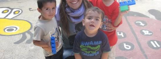 Julia mit Kindern