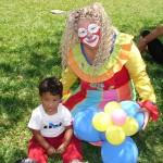 Clownin mit Jungen