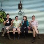 Teamarpäuschen auf der Papageienfarm